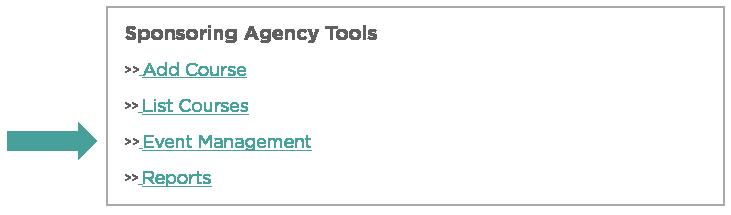 Sponsoring Agency Tools