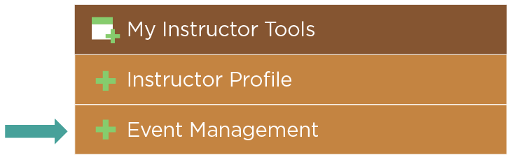 Event Management for Instructors